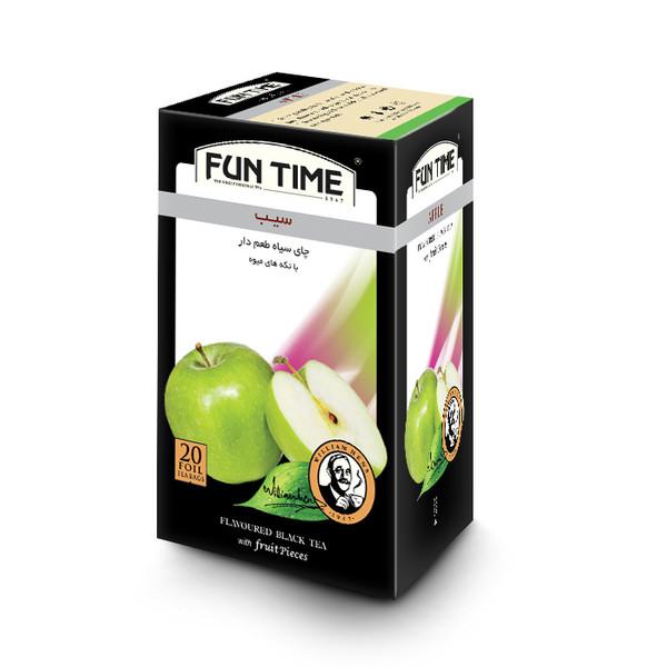 چای کیسه ای فان تایم مدل سیب بسته 20 عددی