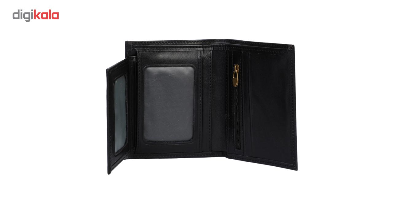 کیف پول جیبی مردانه رویال چرم مدل M10-Black
