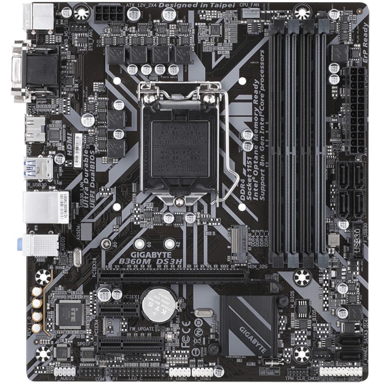 مادربرد گیگابایت مدل  B360M DS3H rev. 1.0