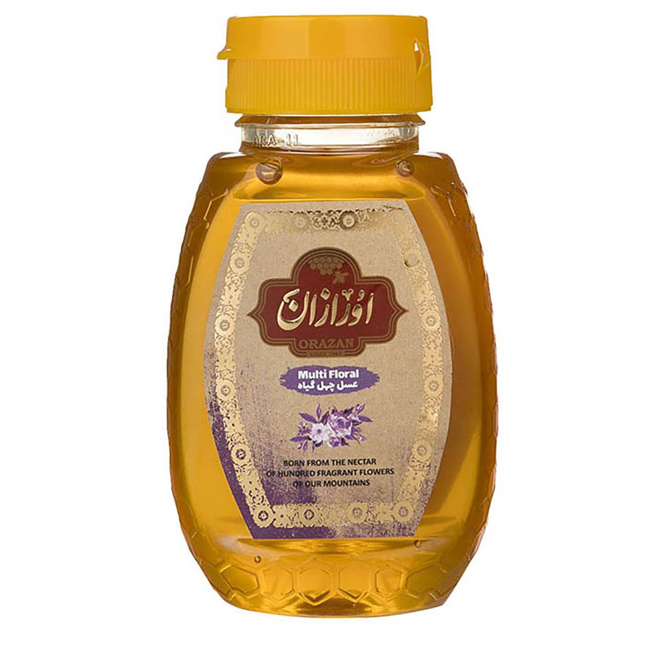 عسل چهل گیاه ارگانیک اورازان مقدار 250 گرم