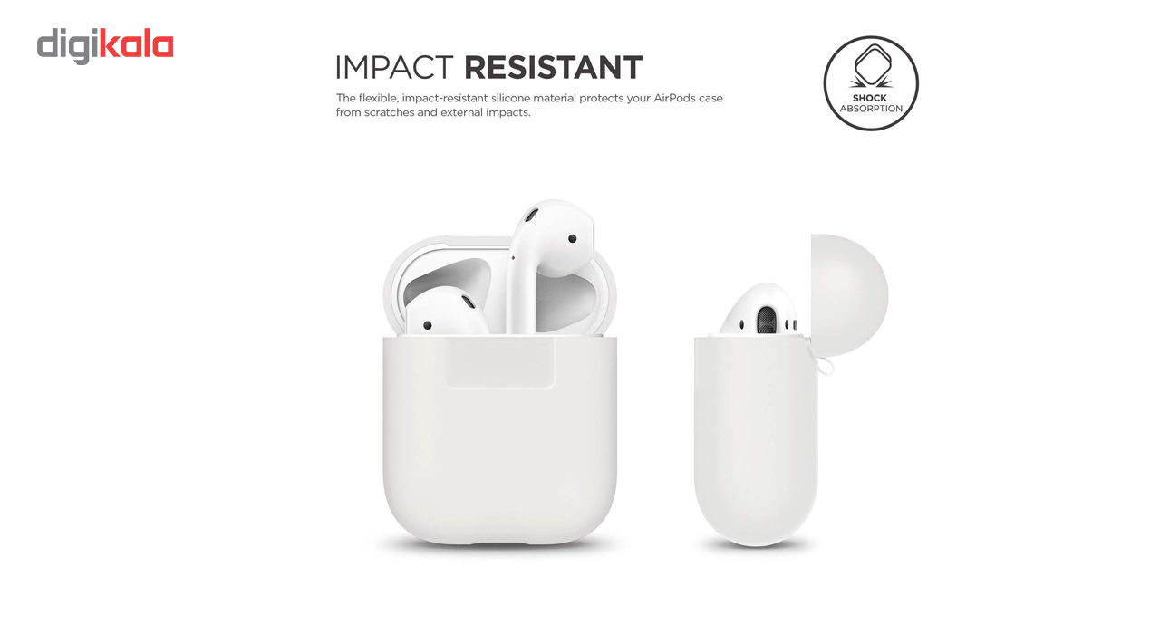 کاور محافظ سیلیکونی الاگو مناسب برای کیس هدفون اپل AirPods main 1 2