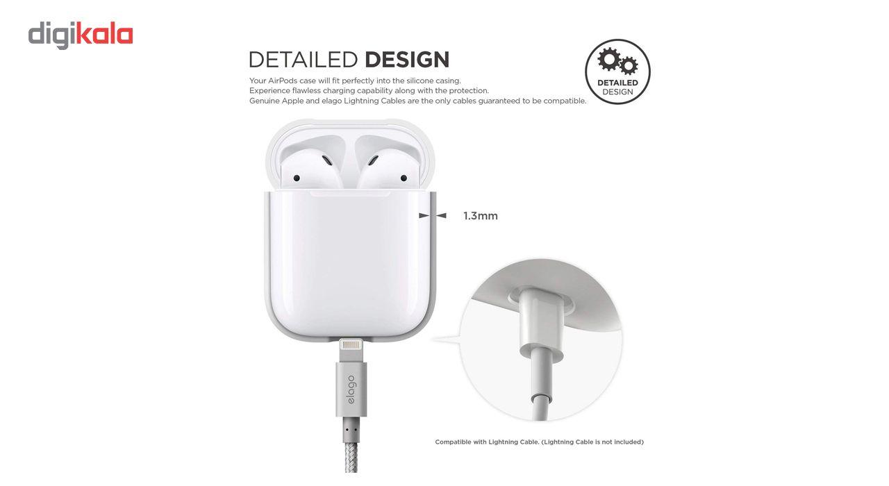 کاور محافظ سیلیکونی الاگو مناسب برای کیس هدفون اپل AirPods main 1 3