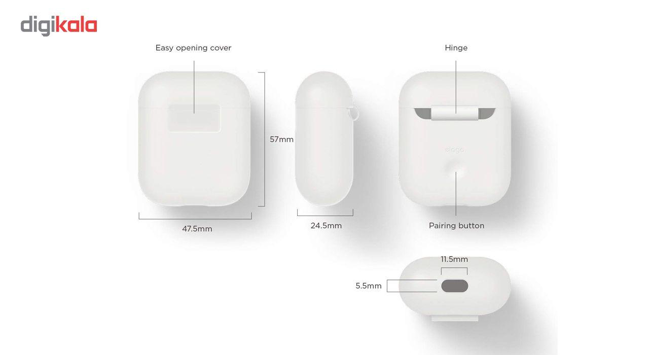 کاور محافظ سیلیکونی الاگو مناسب برای کیس هدفون اپل AirPods main 1 4
