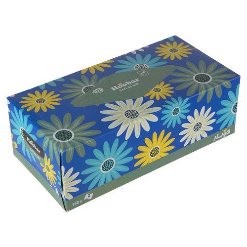 دستمال کاغذی آبی 150 برگ هوبار
