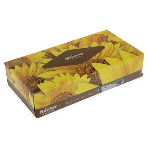 دستمال کاغذی زرد 100 برگ هوبار