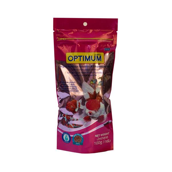غذا خشک ماهی اپتیمم مدل مینی پلت 100 گرم