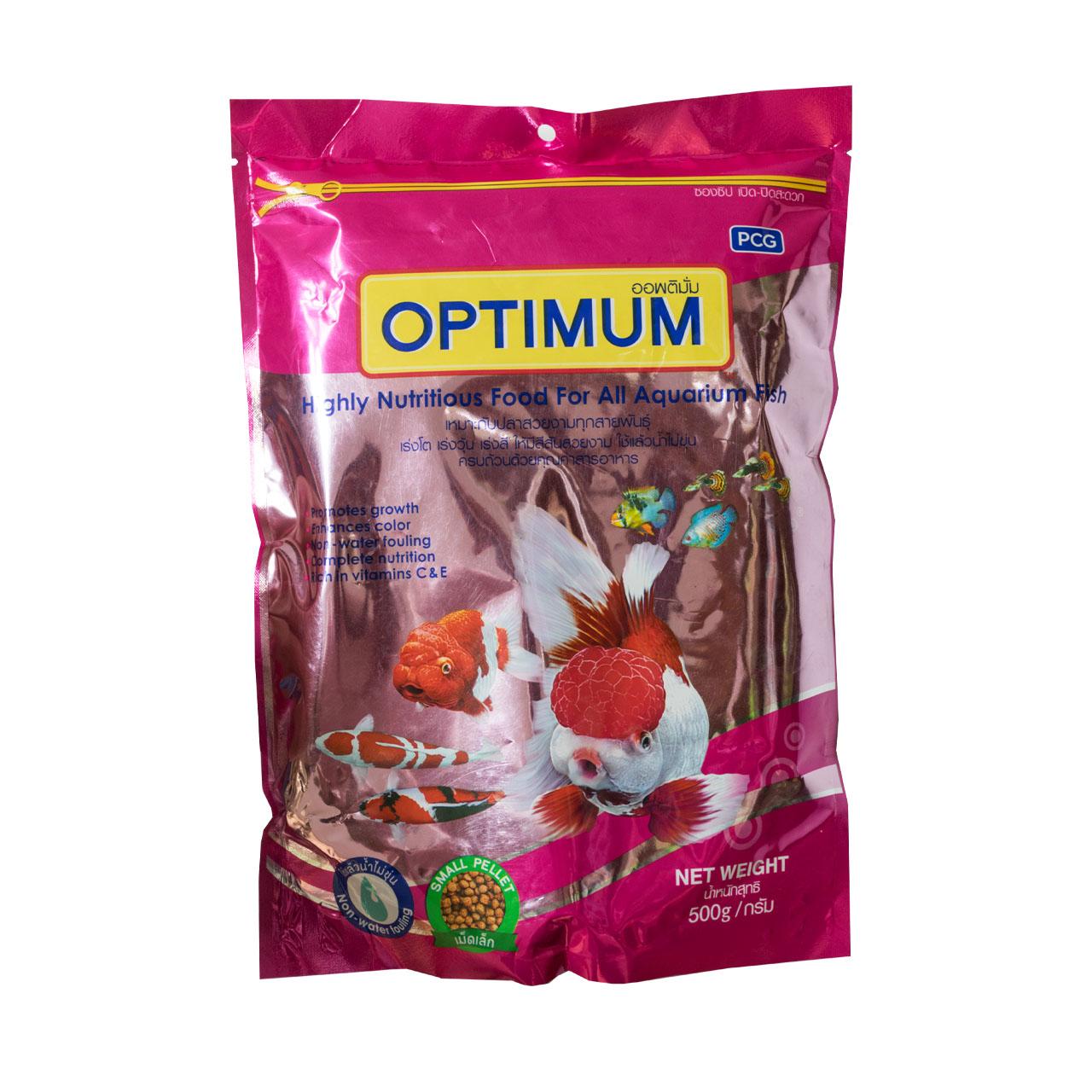 غذا خشک ماهی اوپتیمم مدل گرانول ریز وزن 500 گرم