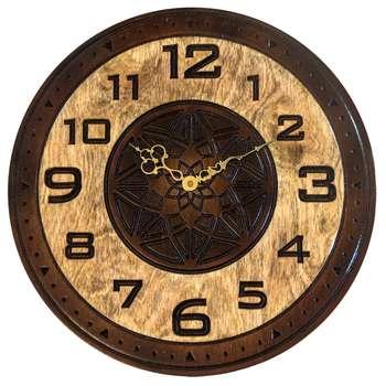 ساعت دیواری چوب طبیعی مدل Moderno