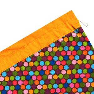 کیسه سبزی کتان 2 تکه رزین تاژ طرح خالدار رنگی