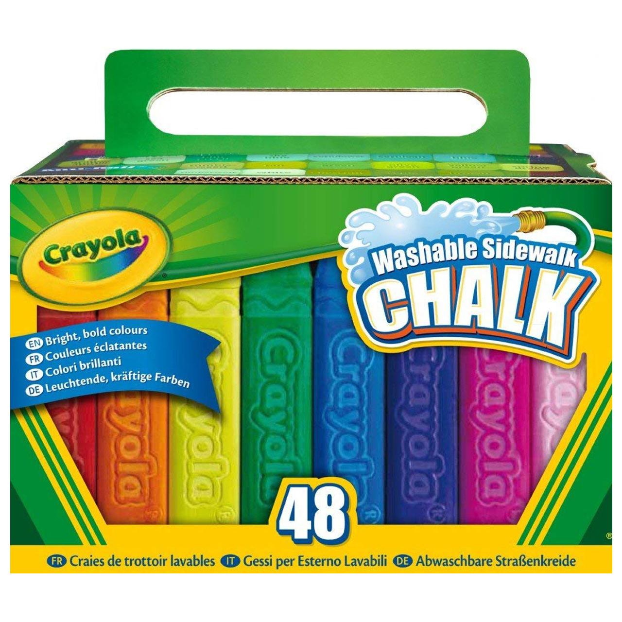 گچ رنگی کرایولا مدل Sidewalk بسته 48 عددی