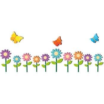 استیکر چوبی ژیوار طرح گل و پروانه