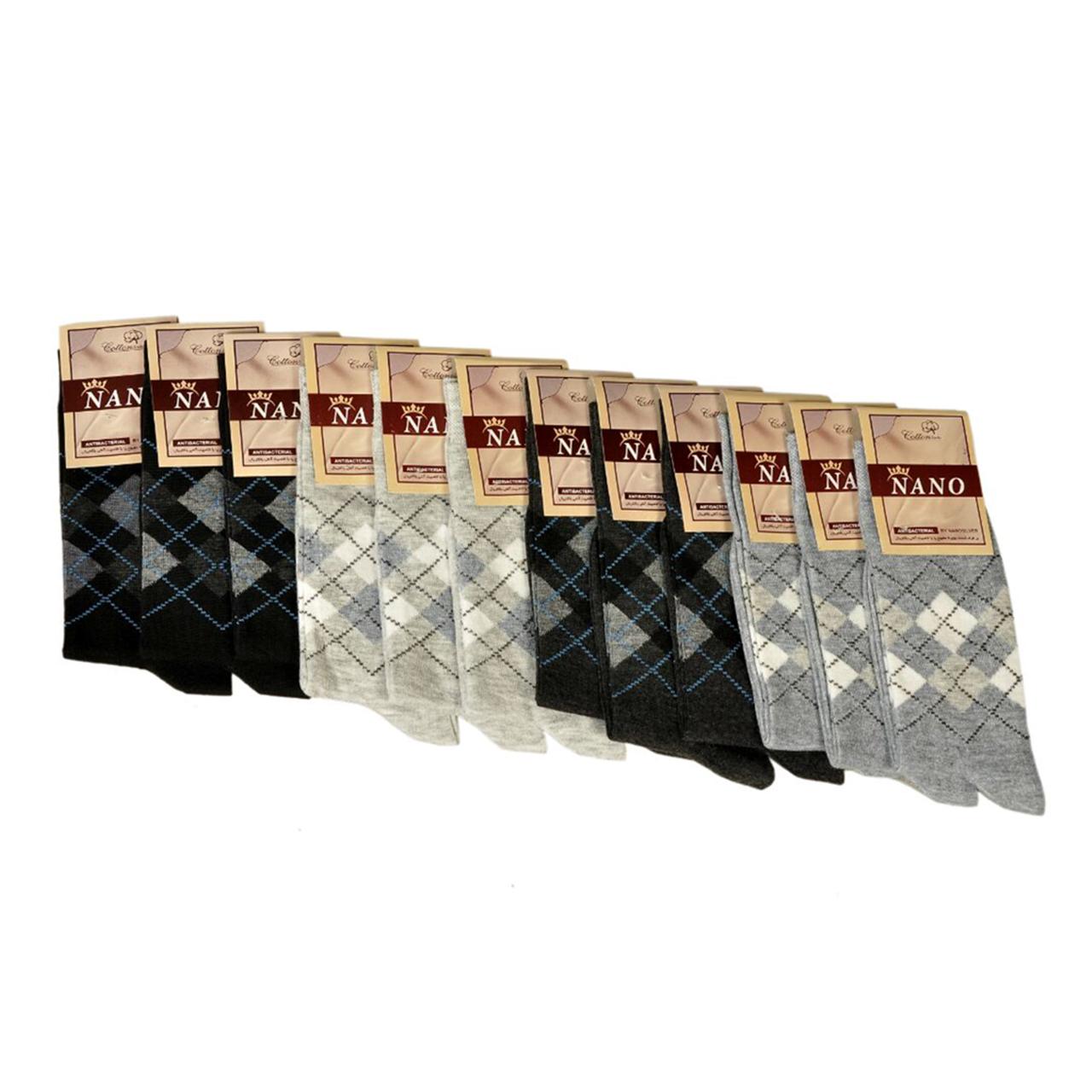 جوراب مردانه کد 10 بسته 12 عددی