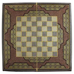 تخته نرد و صفحه شطرنج تمام خاتم طرح 405