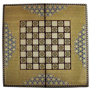 تخته نرد و صفحه شطرنج تمام خاتم طرح 406