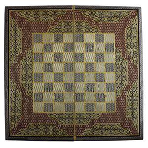 تخته نرد و صفحه شطرنج تمام خاتم طرح 407