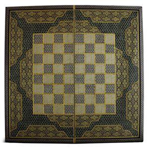 تخته نرد و صفحه شطرنج تمام خاتم اعلا طرح 412