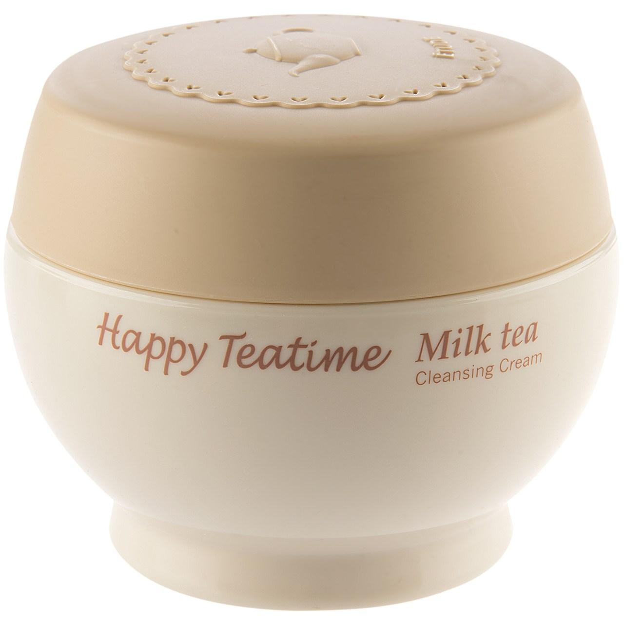 کرم پاک کننده آرایش صورت اتود مدل Happy Teatime Milk Tea حجم 12 میلی لیتر
