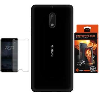 کاور سیلیکونی پروتکتیو کیس مدل Hyper Protector مناسب برای گوشی موبایل نوکیا 6 به همراه محافظ صفحه نمایش