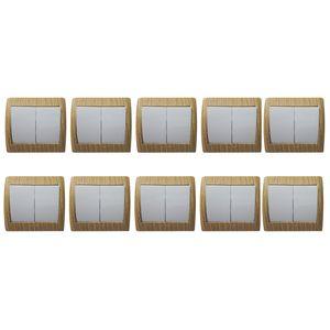 کلید دوپل دلند مدل آریا طرح چوب ممرز بسته 10عددی