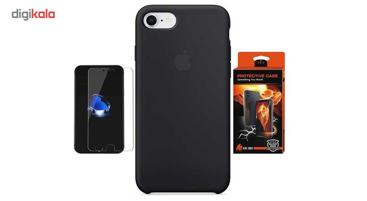 کاور سیلیکونی پروتکتیو کیس مدل Hyper Protector مناسب برای گوشی موبایل اپل iPhone 8 به همراه محافظ صفحه نمایش main 1 1