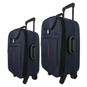 چمدان مجموعه 2 عددی  مدل دو جیب