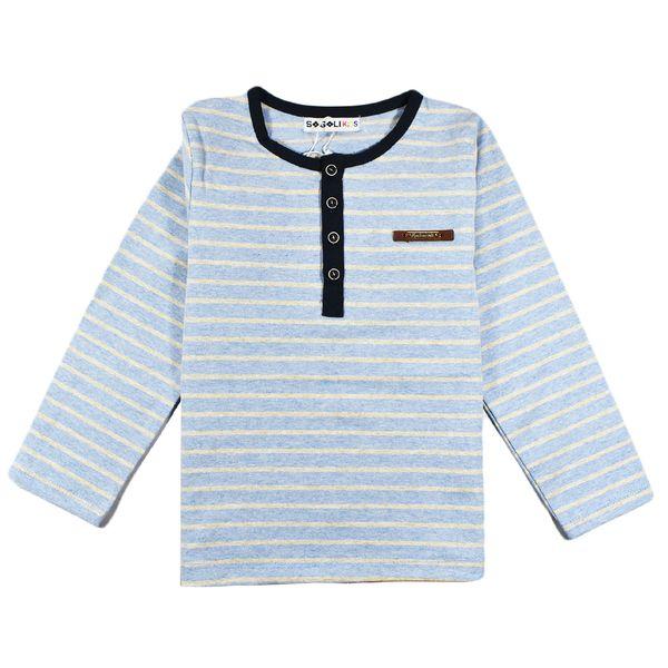 تی شرت پسرانه سوگلی مدل StripyBlue
