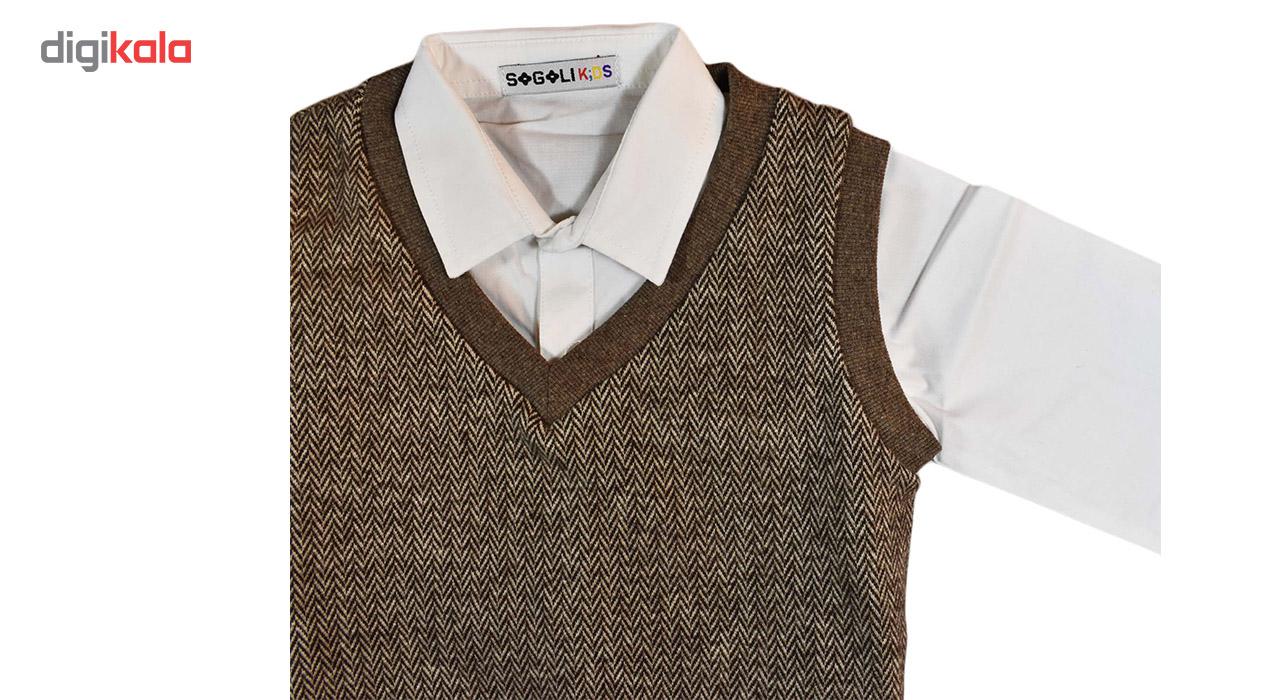 پیراهن و جلیقه سوگلی مدل ClassicBrown