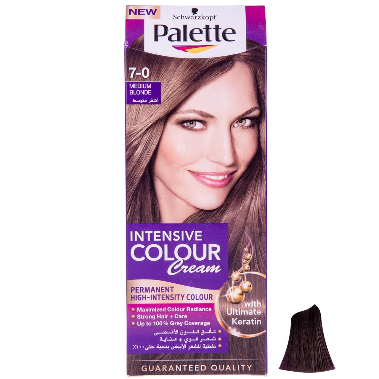 کیت رنگ مو پلت سری Intensive Colour Cream مدل بلوند متوسط شماره 0-7