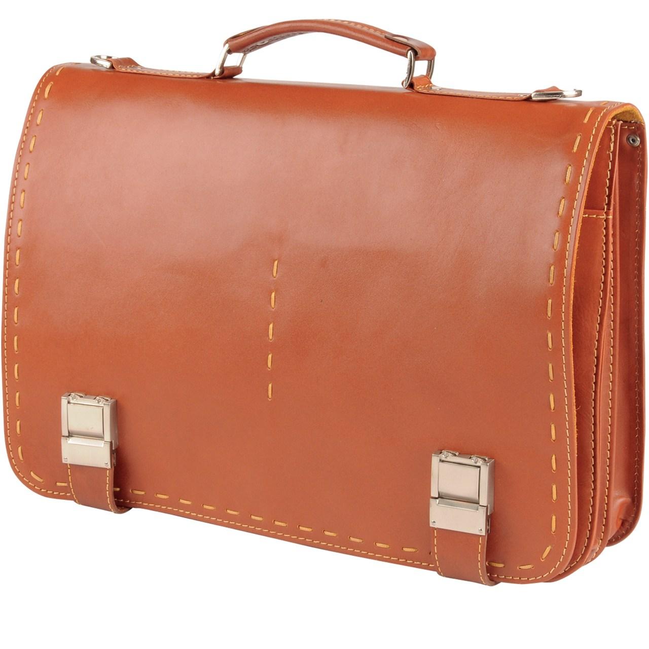 کیف اداری چرم طبیعی گالری کهن چرم مدل L30
