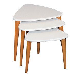 میز عسلی مدل AD07 بسته 3 عددی