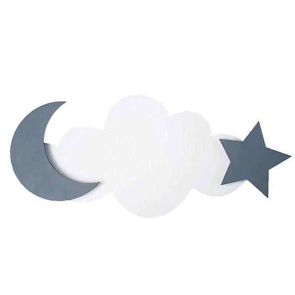 شلف چوبی پینو مدل ابر و ماه