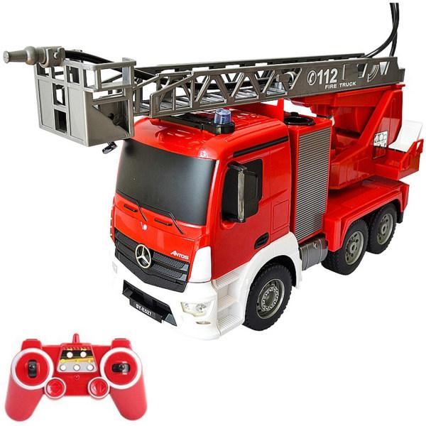 ماشین بازی کنترلی دبل ای مدل Mercedes Benz Antos Fire Truck