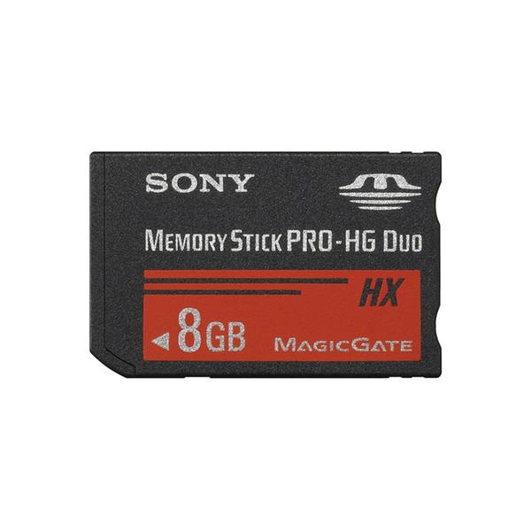 کارت حافظه Stick pro duo سونی مدل HX کلاس 2 استاندارد HG سرعت 20MB/S ظرفیت 8 گیگابایت