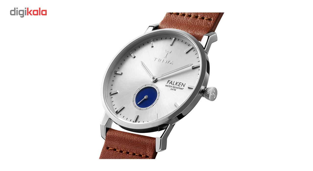 ساعت مچی عقربهای تریوا مدل Blue eye falken با یک بند اضافی