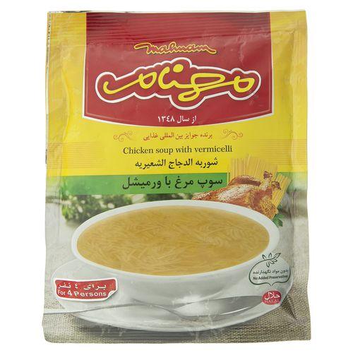سوپ مرغ و ورمیشل مهنام مقدار 75 گرم