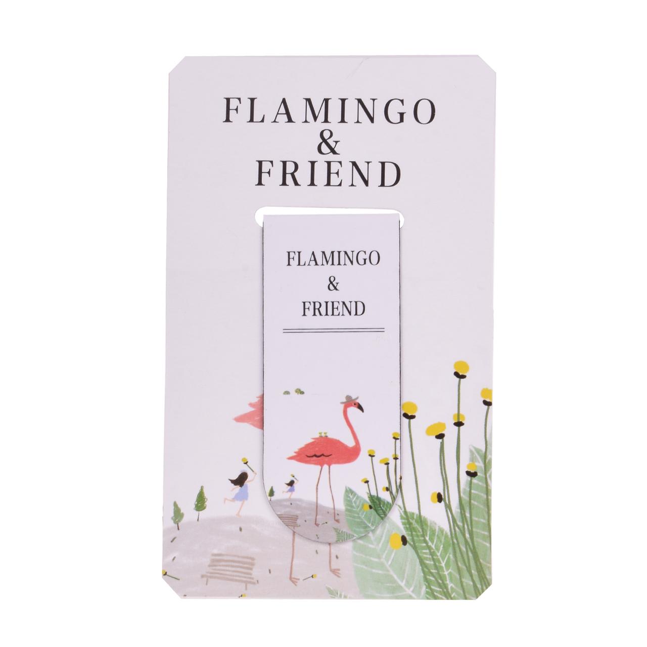 نشانگر کتاب مگنتی مدل Flamingo and friend 4