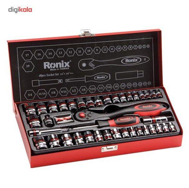 مجموعه 40 عددی آچار بکس رونیکس مدل RH2640 main 1 1