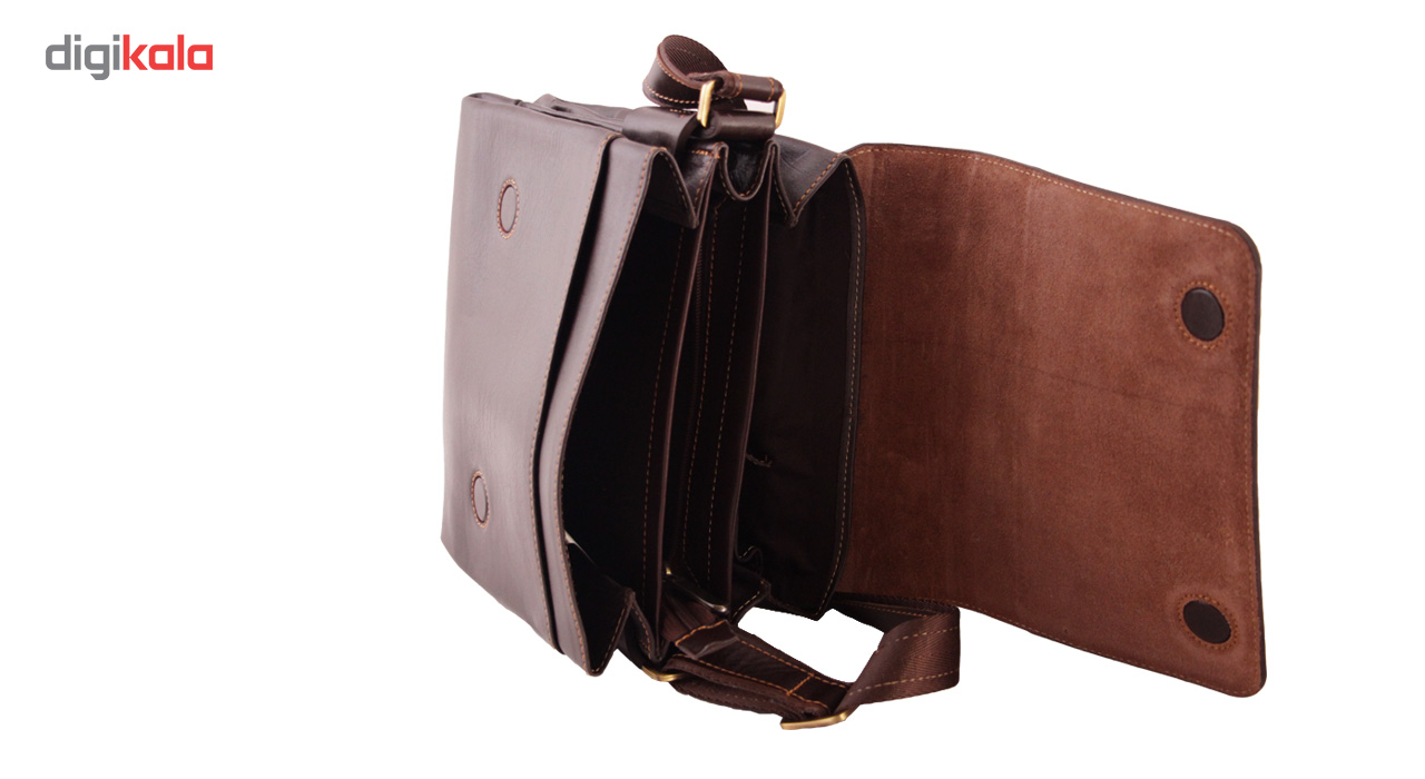 ADINCHARM natural leather satchel, Model DG39