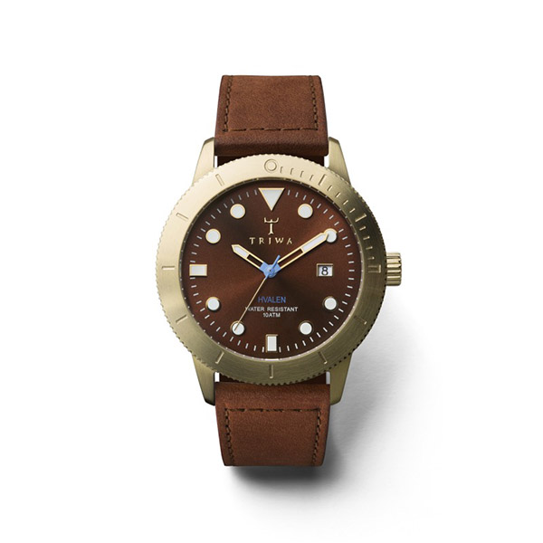 ساعت مچی عقربه ای تریوا مدل Chestnut Hvalen 42