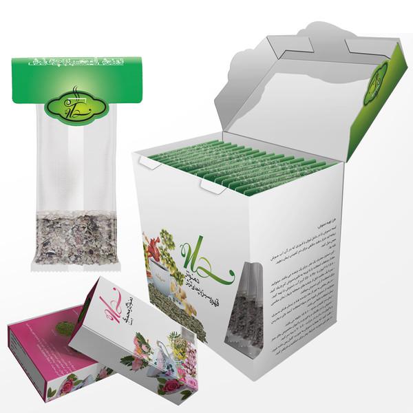 دمنوش قهوه سبز با چای ترش سهله کیسه ای 20 عددی به همراه دو بسته دمنوش گل محمدی