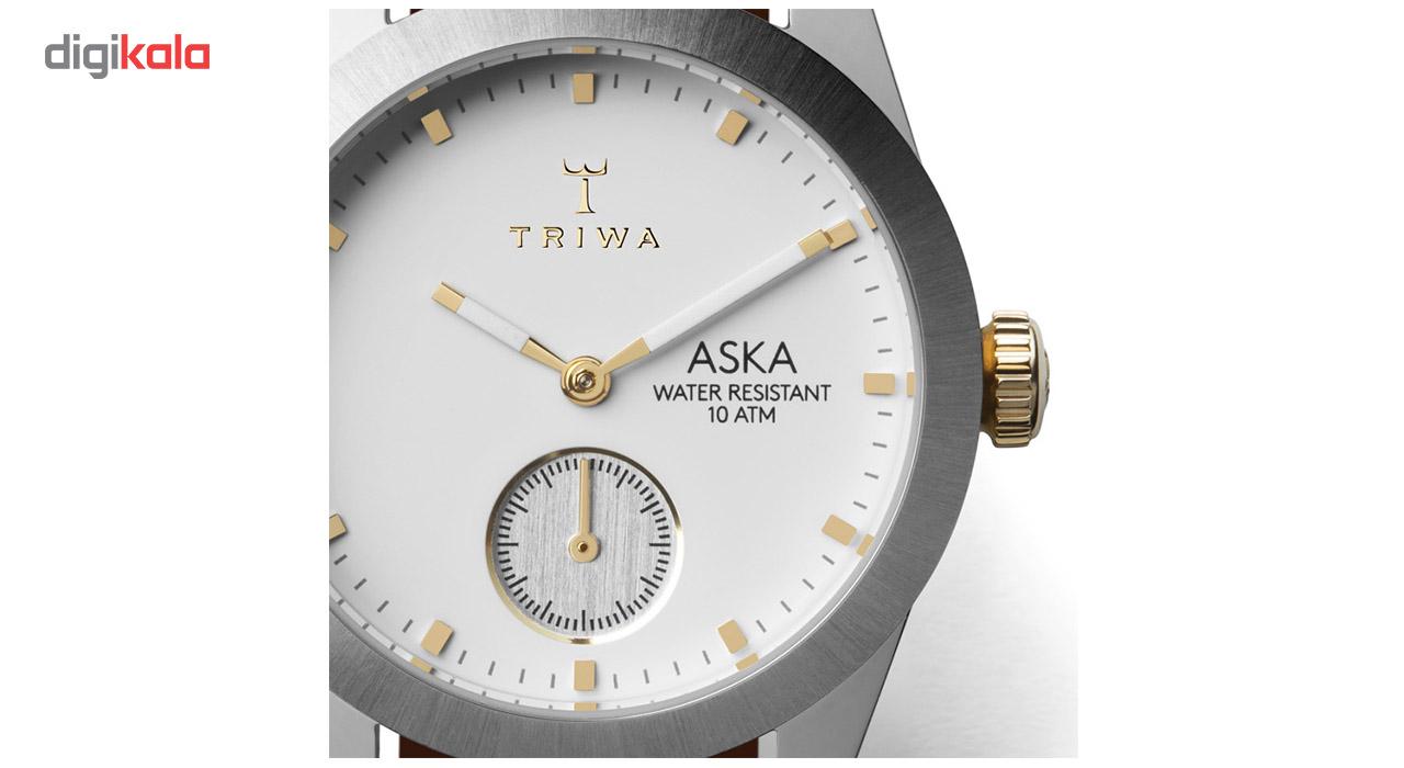 ساعت مچی عقربه ای تریوا مدل Snow Aska- Brown