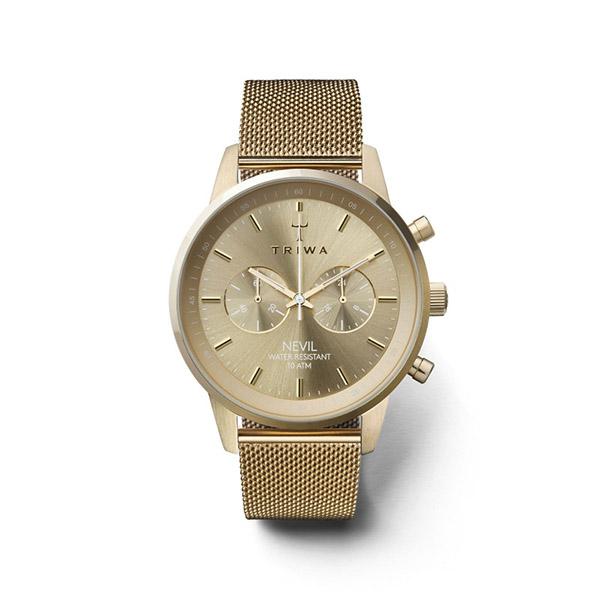 ساعت مچی عقربه ای تریوا مدل Gold Nevil 30