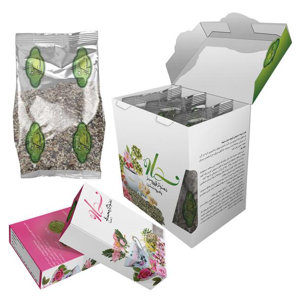 دمنوش قهوه سبز با چای ترش سهله 300 گرمی به همراه دو بسته دمنوش گل محمدی