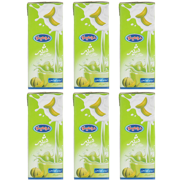 شیر طالبی دومینو حجم 0.2 لیتر بسته 6 عددی
