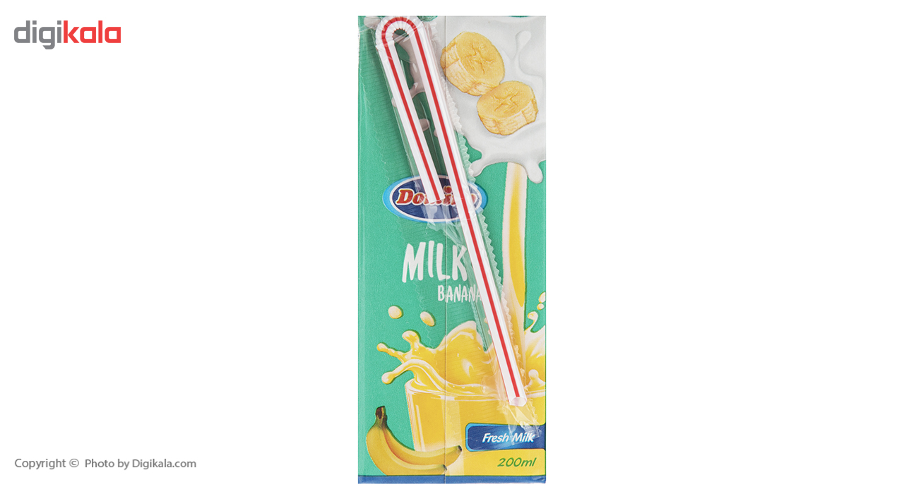 شیر موز دومینو مقدار 0.2 لیتر بسته 6 عددی