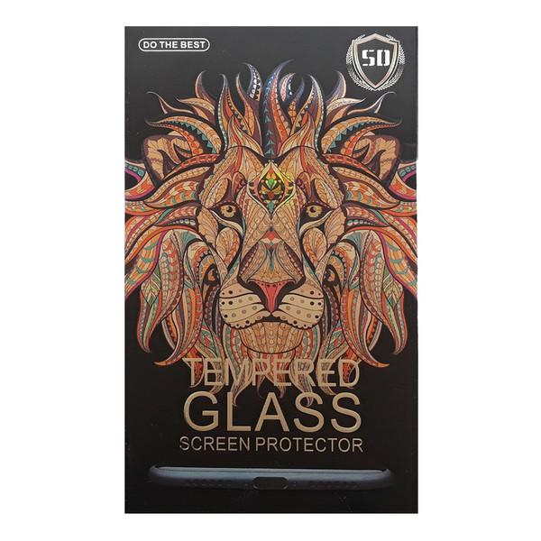 محافظ صفحه نمایش شیشه ای تمام چسب لاین مدل 5D مناسب برای گوشی موبایل اپل iPhone 7 Plus/8 Plus