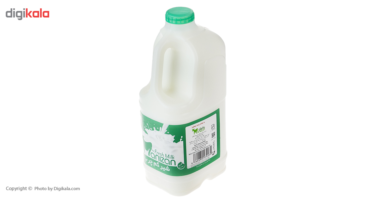 شیر کم چرب مانیزان مقدار 2 لیتر