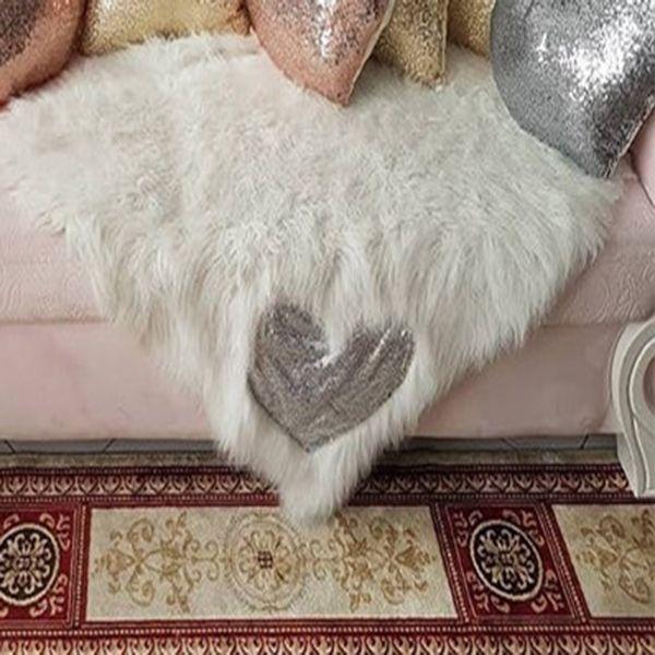 شال مبل و تخت مدل قلب سایز 60x90 سانتی متر