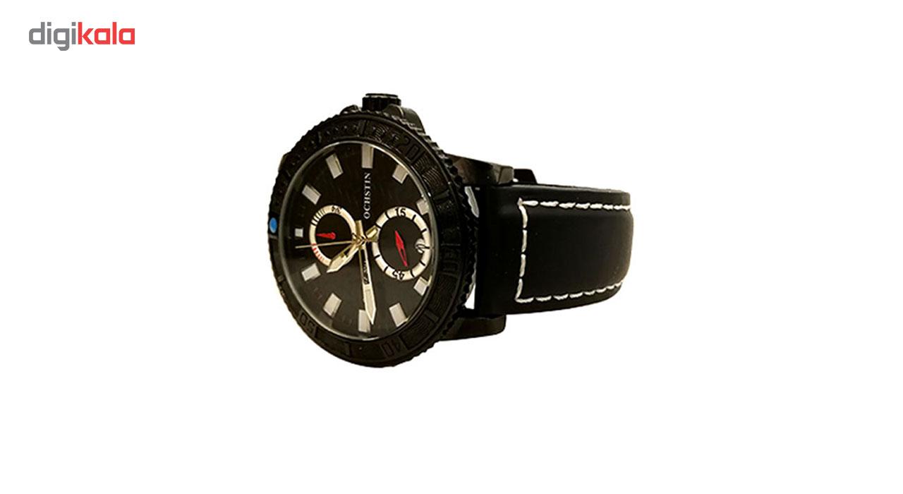 خرید ساعت مچی عقربه ای مردانه سه موتوره آشتن مدل 6045G