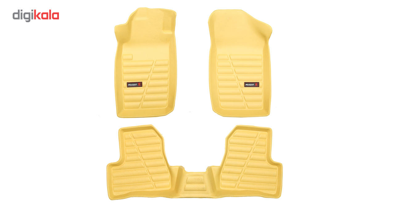 کفپوش سه بعدی خودرو لاستیک گیلان مناسب برای پژو 206 main 1 13